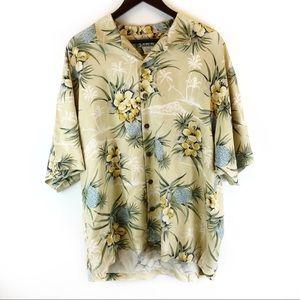 Tommy Bahama Mens XL Silk Hawaiian Camp Shirt